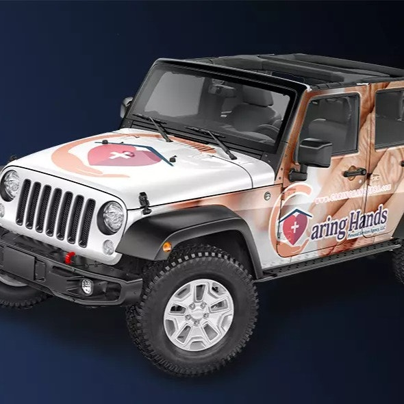 Caring Hands Jeep Wrangler Vehicle Wrap
